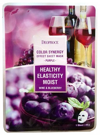 Тканевая маска на основе черники и красного винограда Deoproce Color Synergy Effect Sheet Mask Purple – отзывы, описание и инструкция. Купить в интернет-магазине МаскаМаска